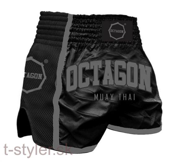 Octagon - Trenky Muay Thai - Black/Grey