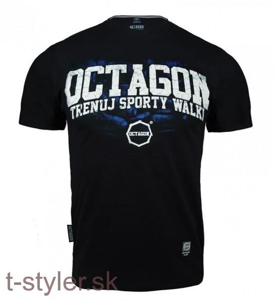 Octagon T-shirt - Trenuj Sporty Walky - Blue