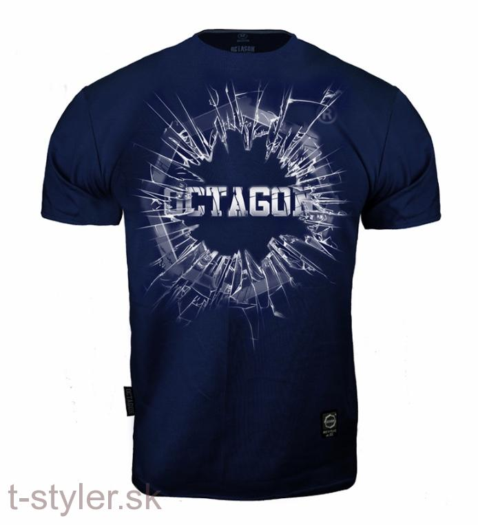 Octagon - Tričko - Crushed Logo - Navy