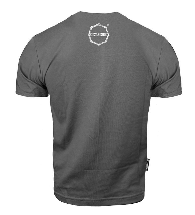 Octago t-shirt Klasic Logo Big - Grey