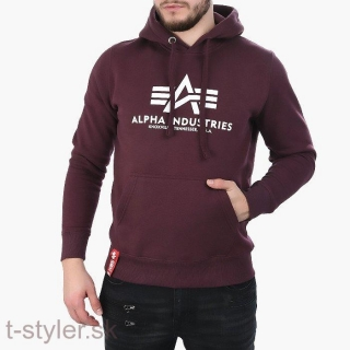 Alpha industries Basic Hoohy deep maroon
