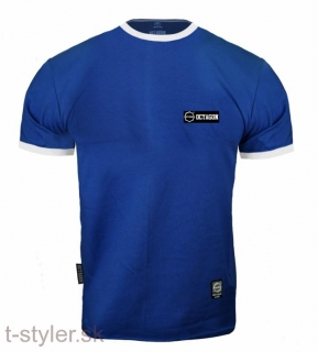 Octagon T-shirt - Small Logo Caption Blue